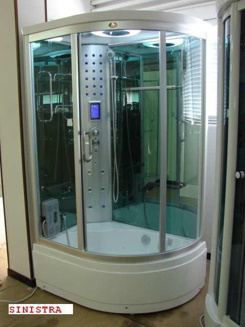 Cabina box doccia idromassaggio bagno turco sauna 120x85 h for Doccia sauna