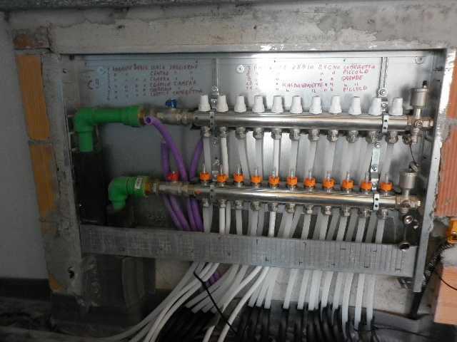 Collettore per impianto a pavimento radiante riscaldamento sottopavimento 6 vie ebay - Collettori per riscaldamento a pavimento ...