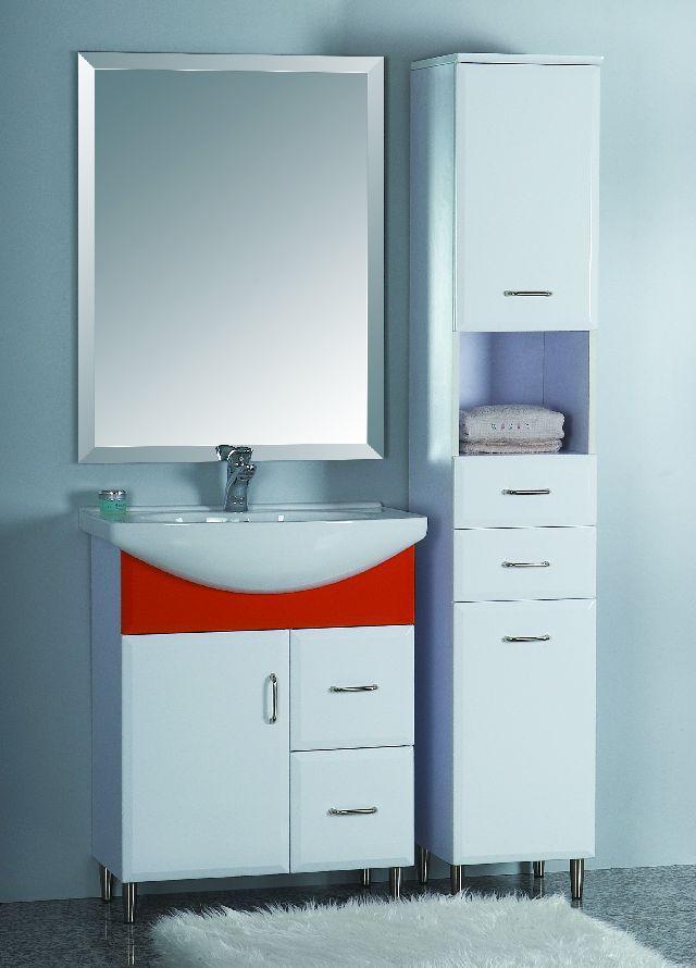 Mobile mobiletto bagno arredo bagno corredato di colonna laterale e specchio ebay - Mobiletto bagno ...