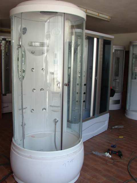 Cabina box doccia idromassaggio multifunzione bagno turco sauna tonda ebay - Cabina doccia con sauna e bagno turco ...