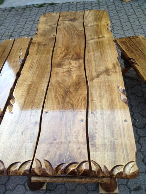 Tavolo da giardino in legno massiccio arredo giardino con 2 panche ebay - Verande da giardino in legno ...